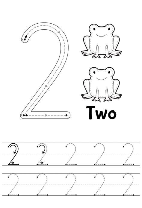 printable number tracing worksheets number 2 tracing worksheets learning printable