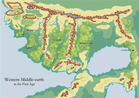 east middle earth map where in middle earth was beleriand quora