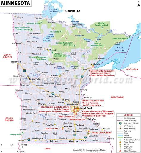 minnesota on the map of usa minnesota map buy map of minnesota mn map