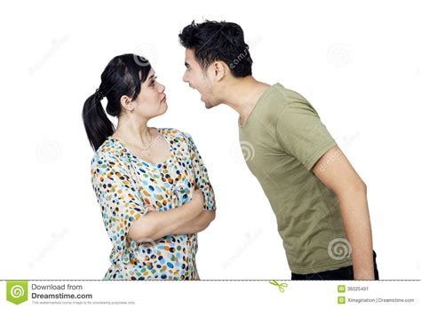 wallpaper of angry couple young couple fighting isolated stock image image 36025491