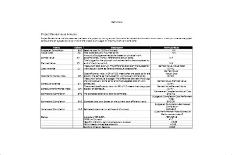 budget analysis template project budget analysis template