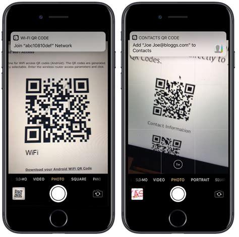 iphone  scan qr codes   camera app  ios  macrumors