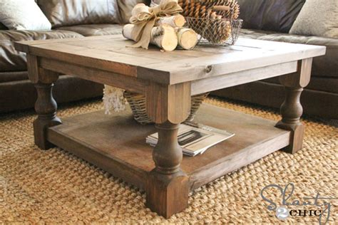 DIY Square Coffee Table   Shanty 2 Chic