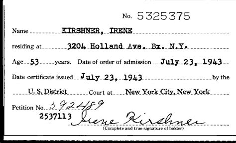 New York Family Court Search United States Naturalization Records Kirshner Family