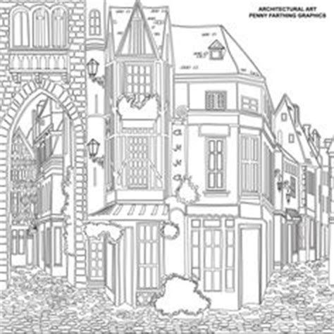 coloring pages for adults buildings colouring buildings houses cityscapes landmarks on