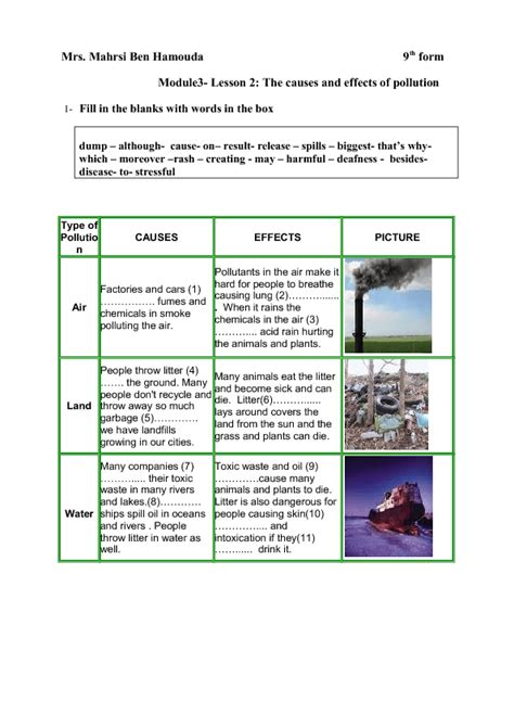 Cause And Effect Of Air Pollution Essay by Causes And Effects Of Pollution