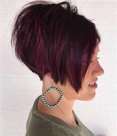 androgynous wedge hair cuts 17 best images about angled stacked bobs on pinterest