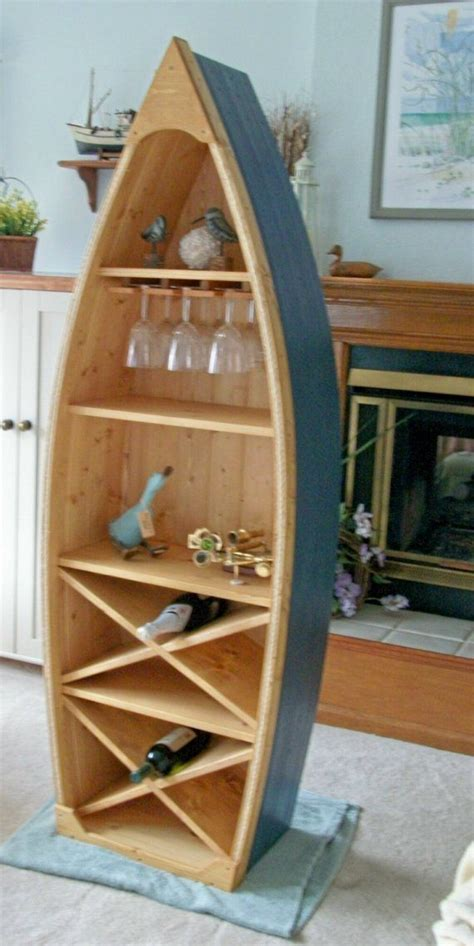 ft boat wine rack glass holder bookcase shelf canoe hand