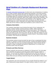 Best Business Plan Template Business Plan Template For Restaurant Business Plan Samples