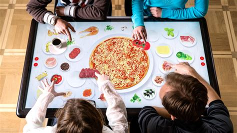 table pizza point multi touch table for foodservice and retail