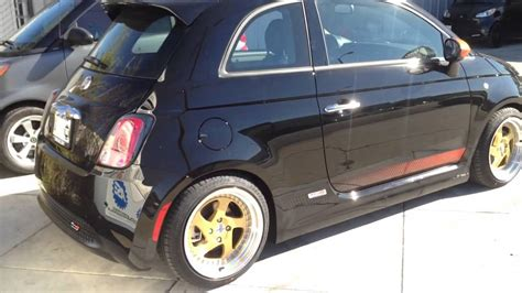 2015 fiat 500e after madness lowering springs koni shcok