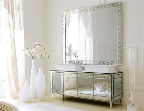 Mirrored Vanities For Bathroom Mirrored Bathroom Vanity Hd L09s 1052