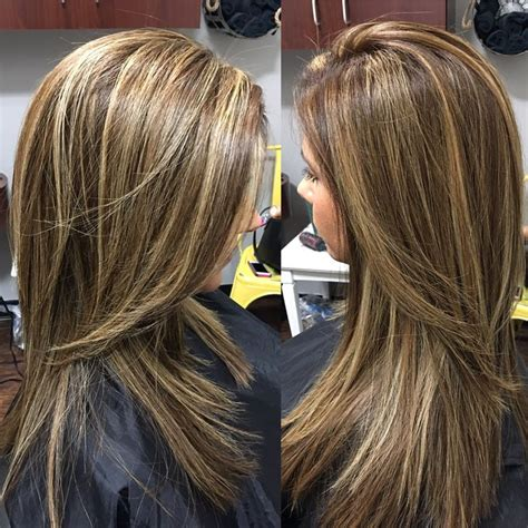 hairstyles foil highlights partial foil highlights and lowlights and finished off