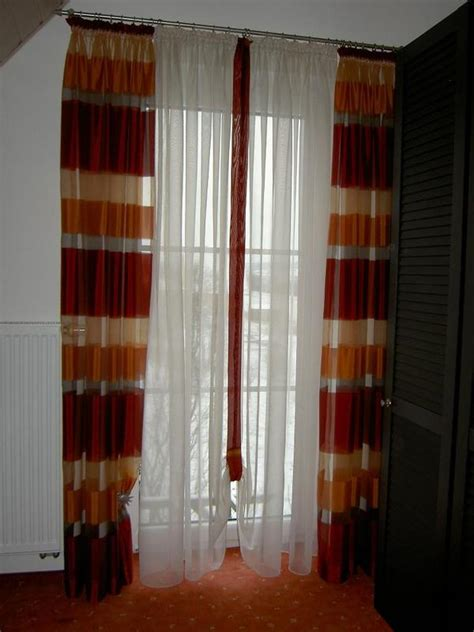 schals gardinen vorh 228 nge gardinen schals terakottafarben f 252 r 2