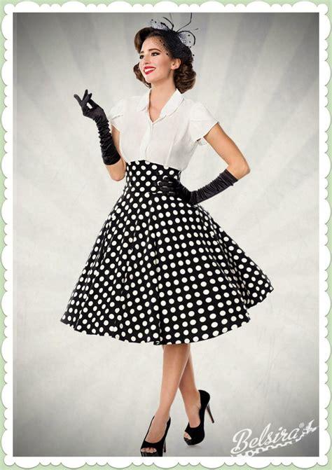 Style 50er by Belsira 50er Jahre Rockabilly Punkte Tellerrock High