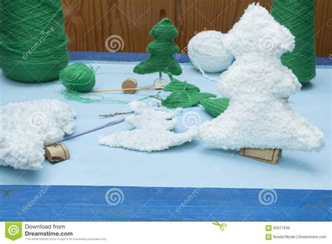 Some Handmade Crafts - decorations crafts white nad green crochet trees