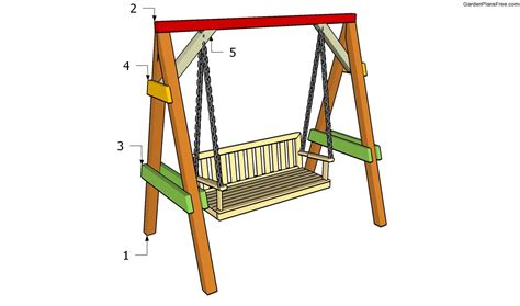 swing a frame garden swing plans free garden plans how to build