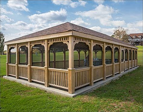 pavillon 2x3 treated pine single roof rectangle gazebos gazebos by