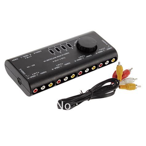 Promo Promo Promo 3 Way Av Switcher Selector Multi Av Switch Merk Suoe 4 in 1 out av rca switch box av audio signal switcher splitter 4 way selector with rca