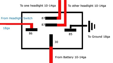 12v 5 pin relay wiring diagram automatic changeover switch