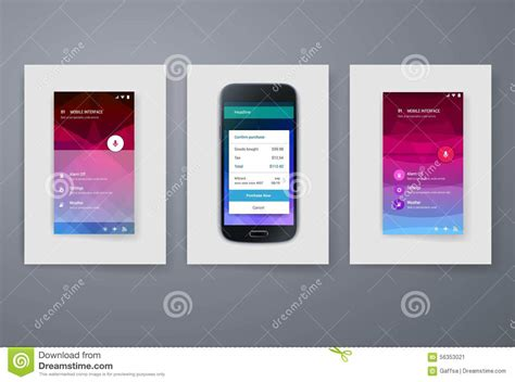 Modern Mobile Apps And Phone Cards Design Template Stock V On Online Marriage Invitation Card Phone Template Maker