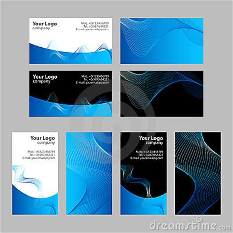 Card Templates Front And Back by Business Cards Templates Front And Back Stock Photo