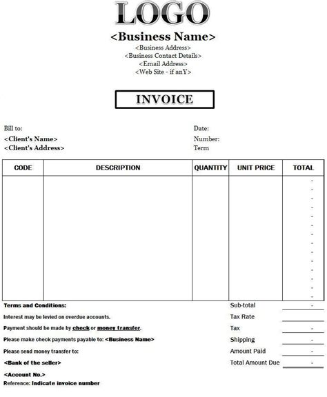 payment terms and conditions template invoice payment terms and conditions free invoice