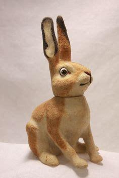 Size Antique German Easter Bunny - details about antique german paper mache composition glass