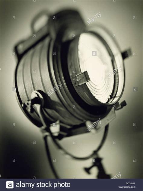 large fashioned lights a large fashioned spotlight black white toned stock