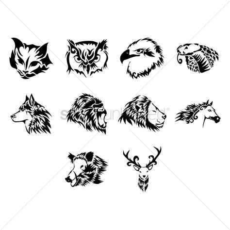 tattoo animal vector animal tattoo design vector image 1433621 stockunlimited