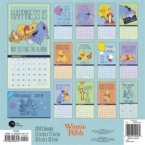 2018 winnie the pooh wall calendar day winnie the pooh wall calendar 2018 acco brands