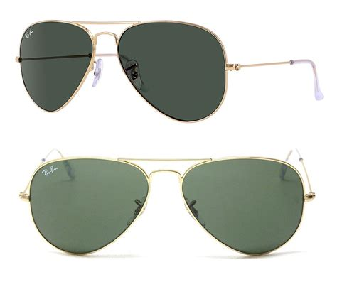 Rb Army 3026 rayban rb3026 l2846 62 italy aviator large metal ii sunglasses rb3026 l2846 gold green 62mm