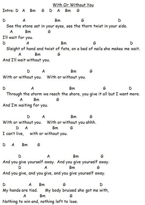 Guitar Chords Here Without You