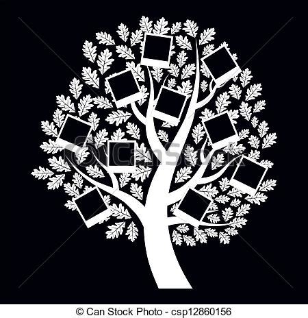Family Genealogical Tree On Black Background Vector Illustration Vintage Genealogical Family Tree Sketch Vector Illustration Stock Vector