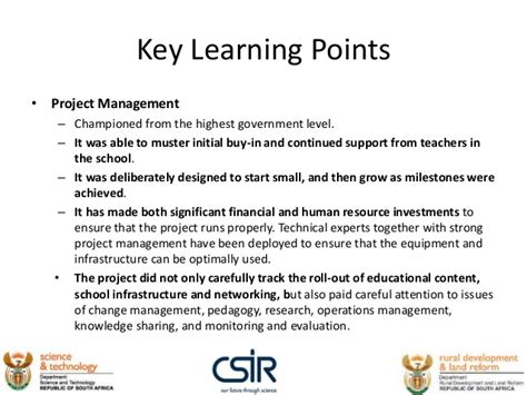 project management for education the bridge to 21st century learning books 1 description of the ict4red initiative in rural south