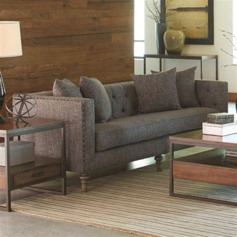 Sacs Furniture Ellery Sofa With Traditional Industrial Style Sacs Furniture