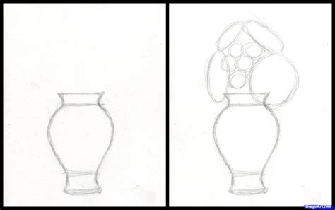How To Draw A Flower In A Vase by Simple Drawings Of Vase How To Draw Flowers In A Vase Roselawnlutheran Drawing Ideas