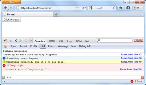 firebug console log debugging tutorial the toolkit reference guide