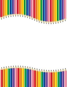 Pencil Clip Art   Borders, Frames, and Backgrounds by