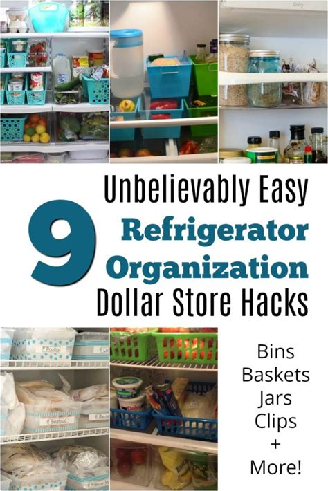dollar store organization hacks 9 unbelievably easy refrigerator organization dollar store