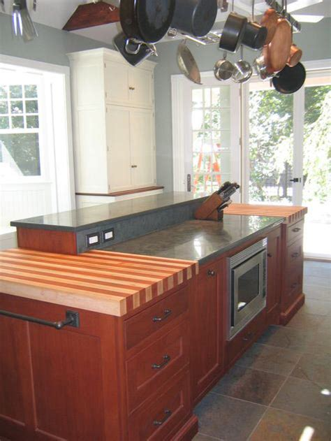 Maple with African Mahogany Striped Wood Countertop in PA