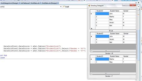 tutorial vb net dataset vb net datagridview with dataset as datasource stack