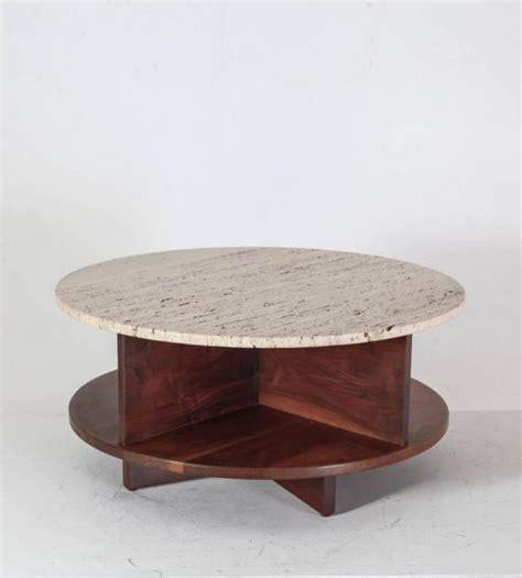 joe doucet flat pack marble furniture fibonacci stone arden riddle rotating walnut and travertine coffee table