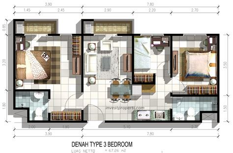 layout kamar apartemen unit apartemen puri orchard dijual launch apartemen