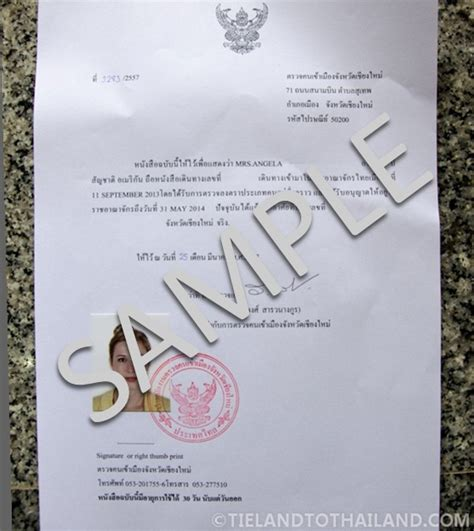 certification letter for residence how to get a thai residence certificate tieland to thailand