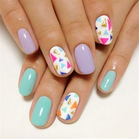 triangle pattern on nails 17 super cute pastel nail designs pretty designs