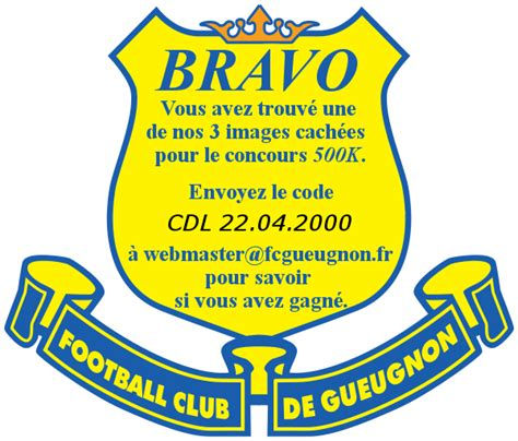Calendrier Xtra 2000 Football Club De Gueugnon