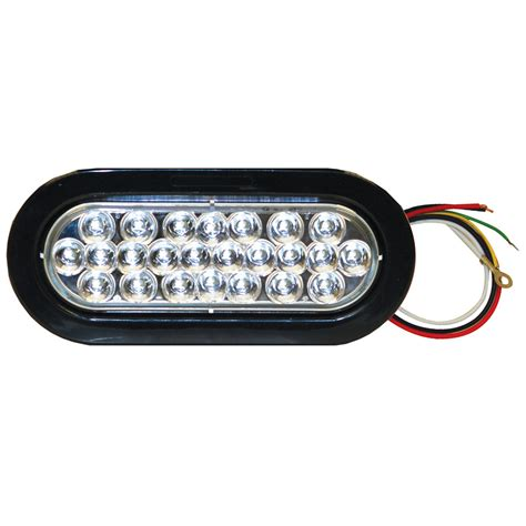 green and amber strobe lights buyers sl66ag 6 1 2 quot 12 amber 12 green led oval strobe