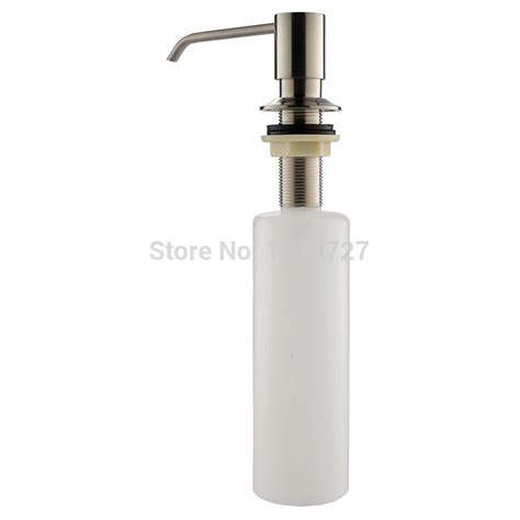 Kitchen Countertop Soap Dispenser Deck Mount Brushed Nickel Stainless Steel Foam Liquid Lotion Kitchen Countertop Soap