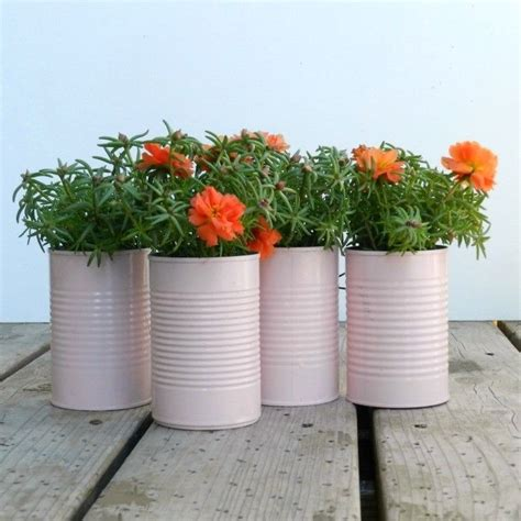 Tin Can Planters 15 diy planters for your front porch